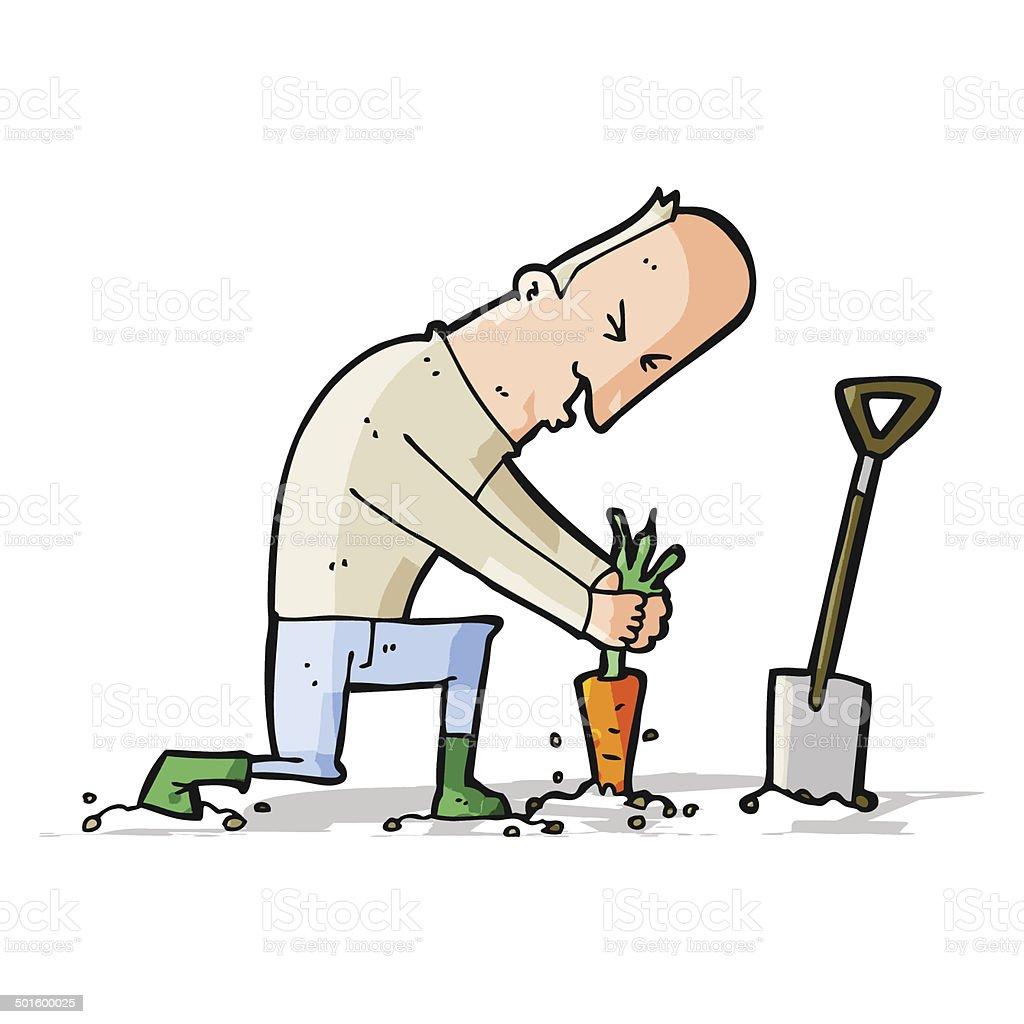 cartoon gardener royalty-free stock vector art