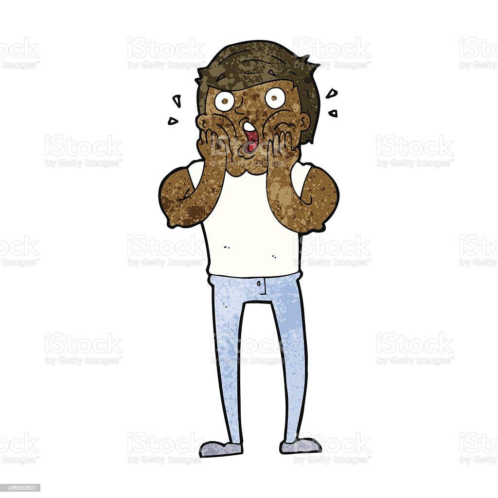 cartoon gasping man vector art illustration