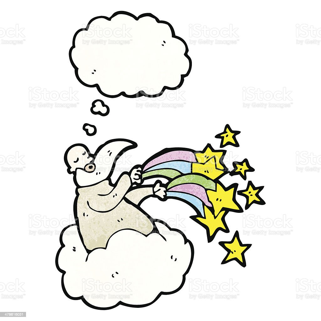 cartoon god on cloud royalty-free stock vector art