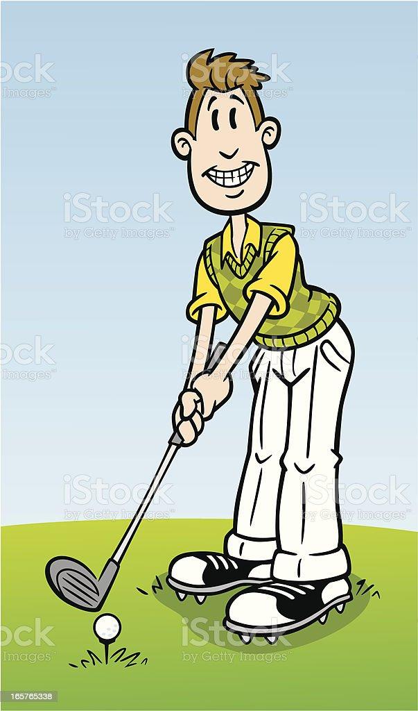 Cartoon Golfer vector art illustration