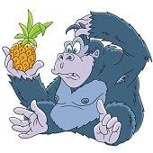 Cartoon gorilla animal