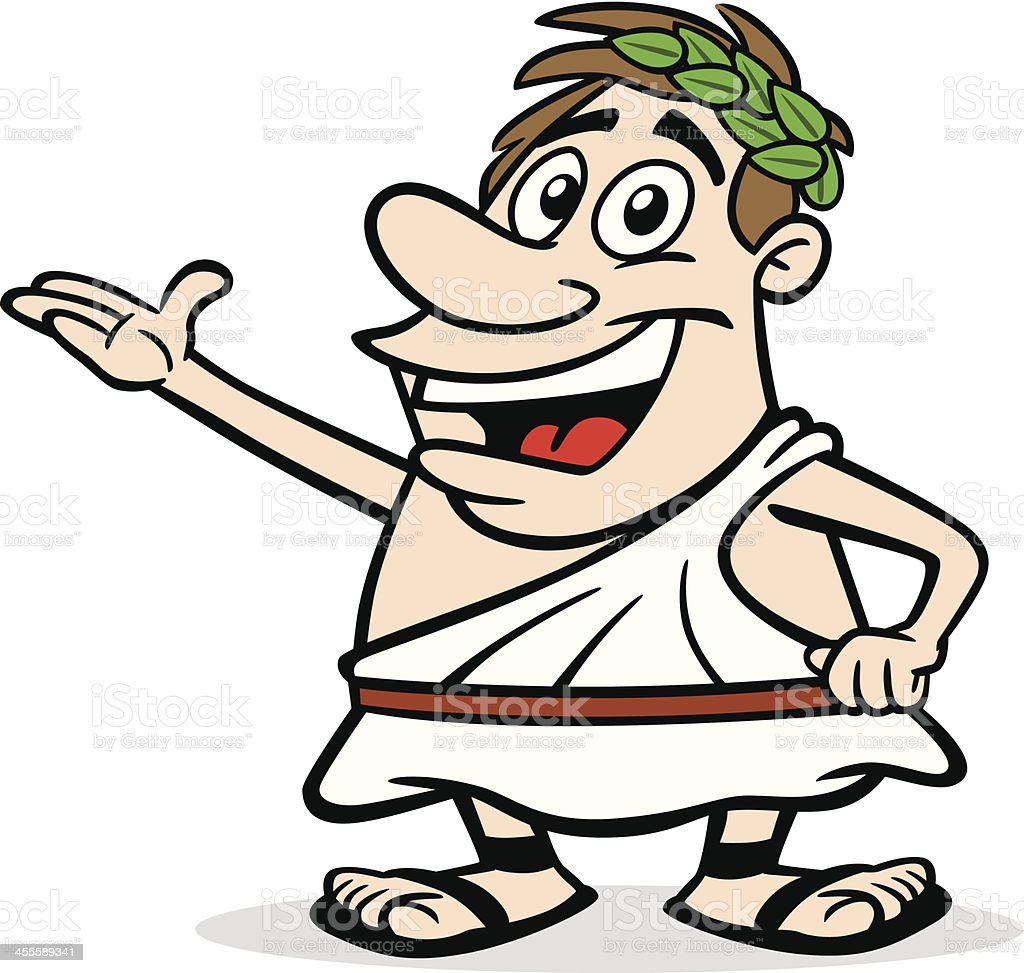 Cartoon Greek Guy royalty-free stock vector art