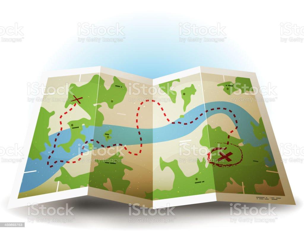 Cartoon Grunge Earth Map Icon royalty-free stock vector art