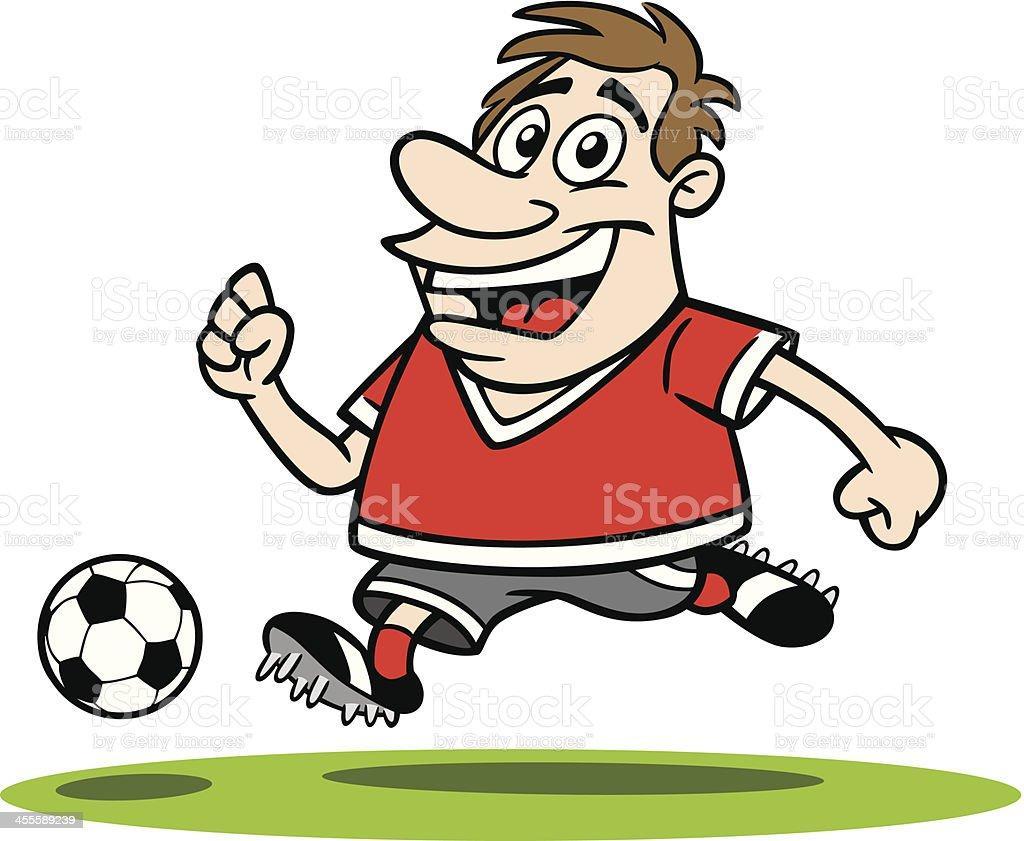 Cartoon Guy Playing Soccer vector art illustration