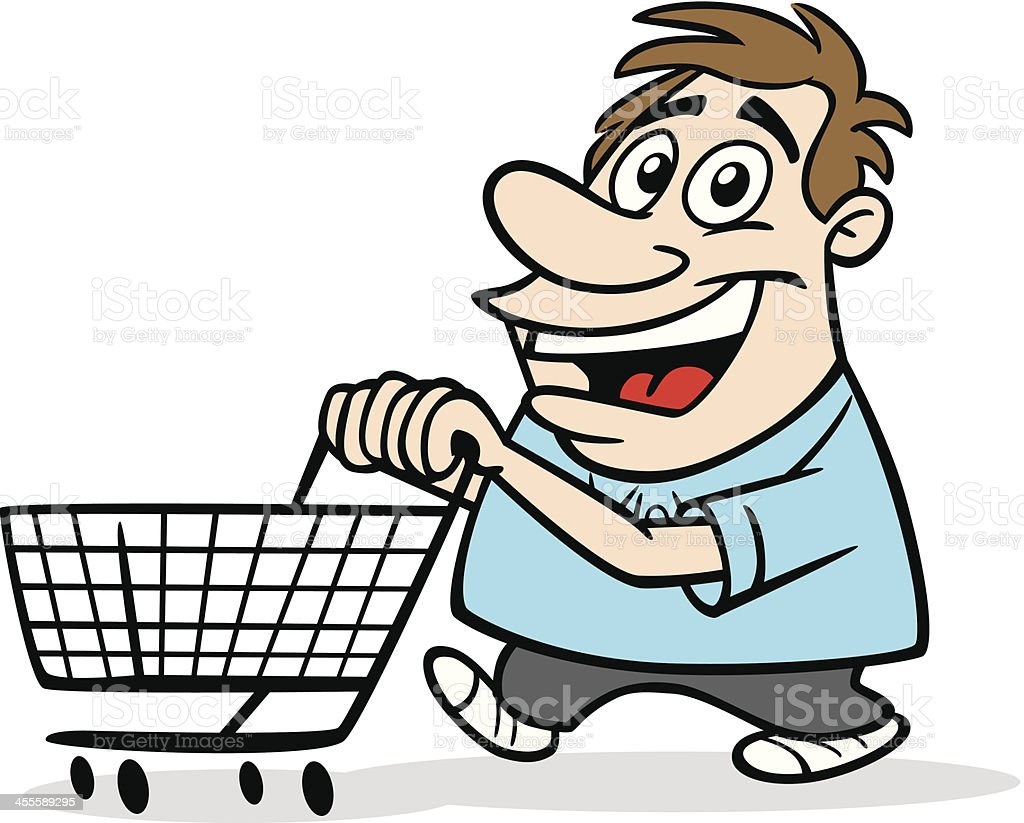 cartoon guy with shopping cart stock vector art 455589295 Old General Store Front Gas Station Clip Art