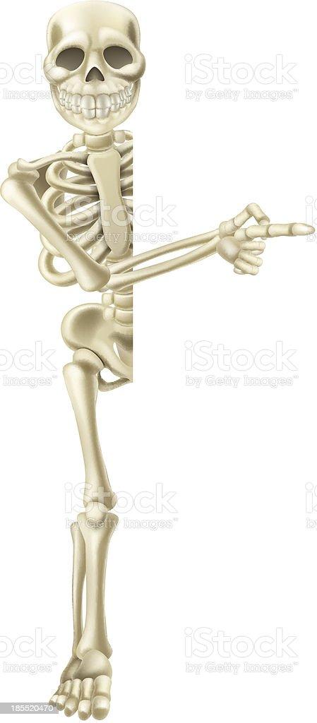 Cartoon Halloween Skeleton Pointing royalty-free stock vector art
