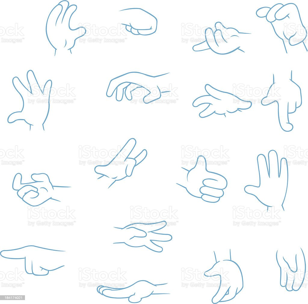 Cartoon Hands collection royalty-free stock vector art
