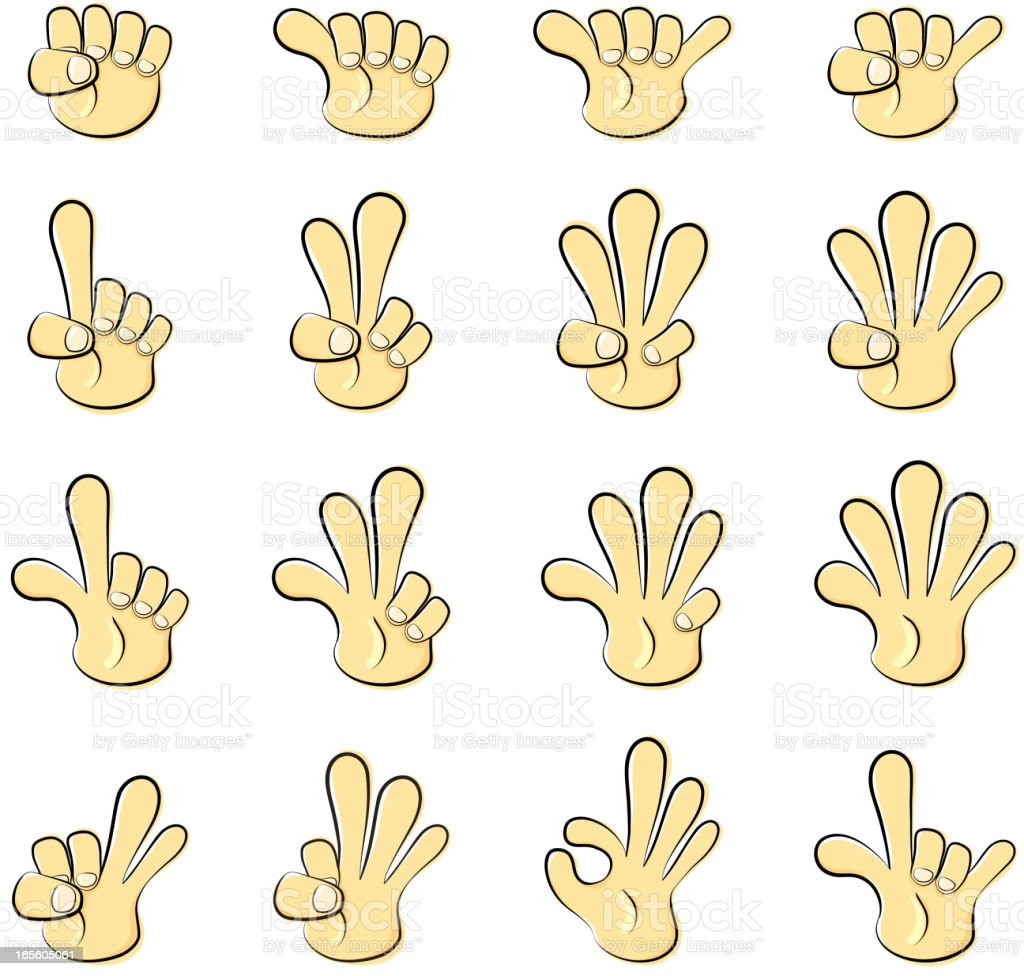 Cartoon Hands royalty-free stock vector art
