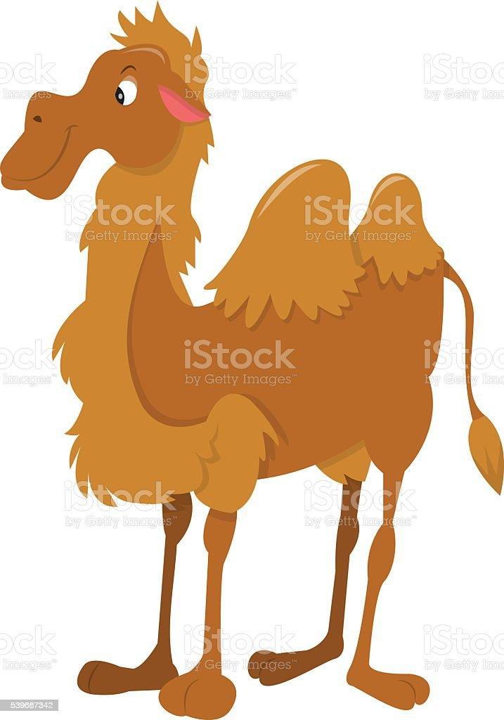 Cartoon Happy Camel Standing vector art illustration
