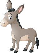 Cartoon happy donkey