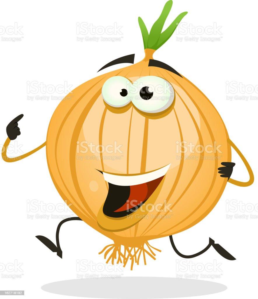 Cartoon Happy Onion Character royalty-free stock vector art