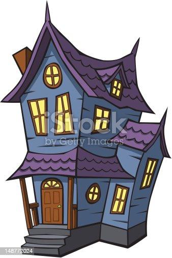 Cartoon haunted house stock vector art 148772024 istock - Cartoon haunted house pics ...