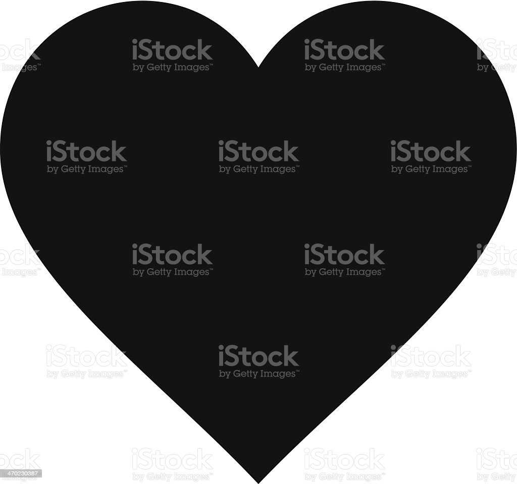 Cartoon Heart Silhouette vector art illustration