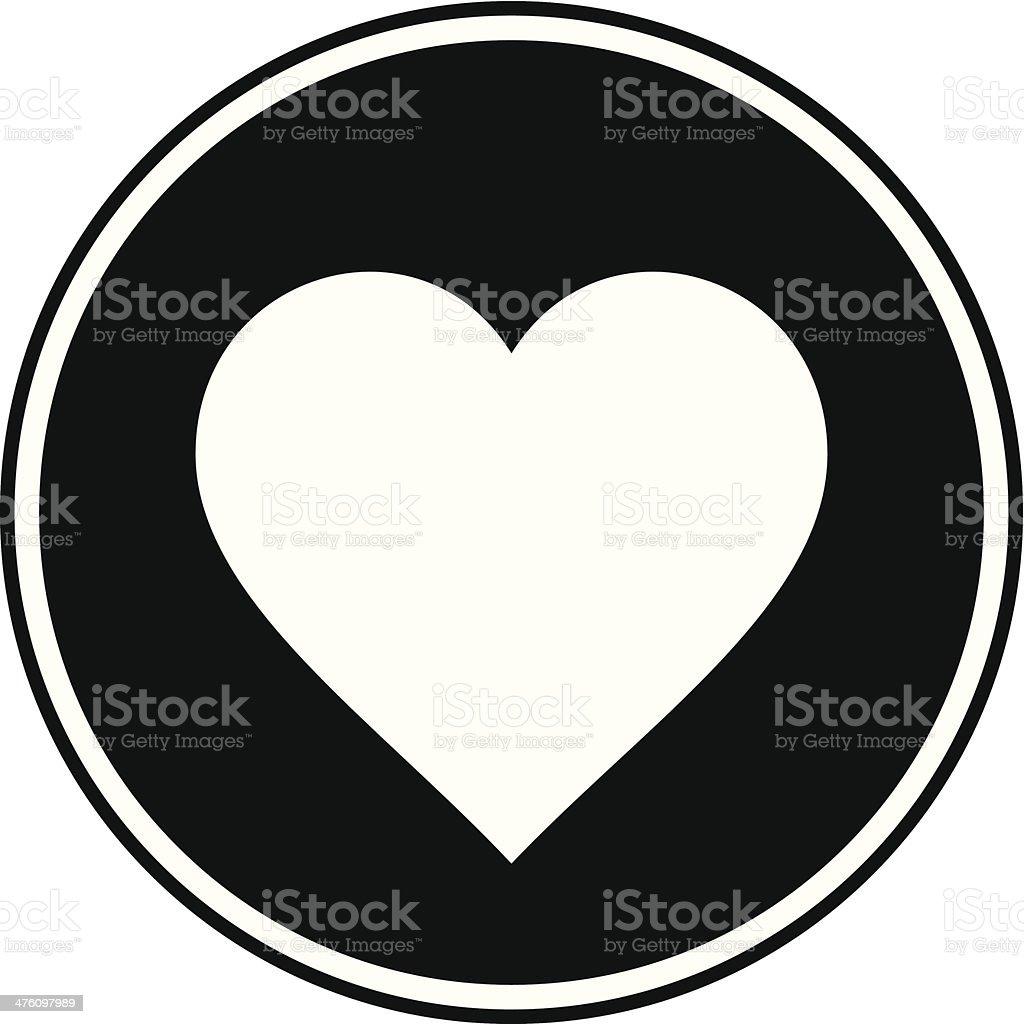 Cartoon Heart Symbol vector art illustration
