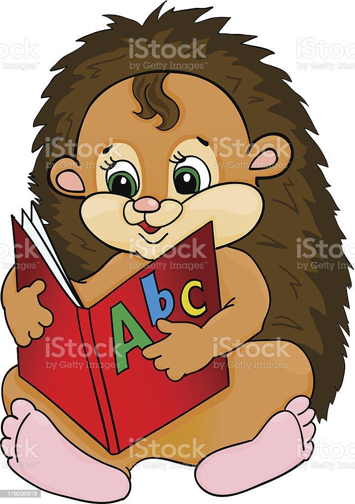 Cartoon hedgehog royalty-free stock vector art