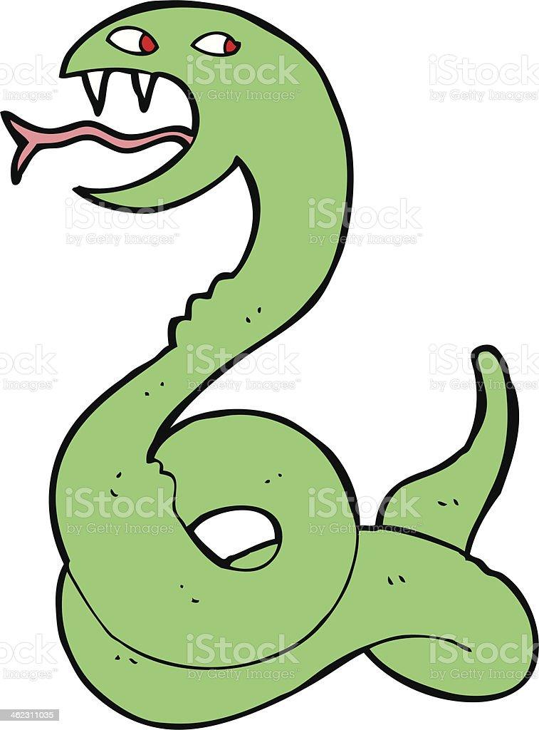 cartoon hissing snake royalty-free stock vector art