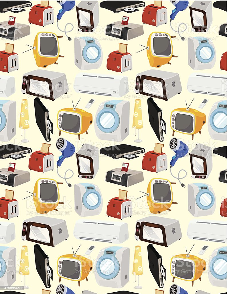 cartoon Home Appliances icon royalty-free stock vector art