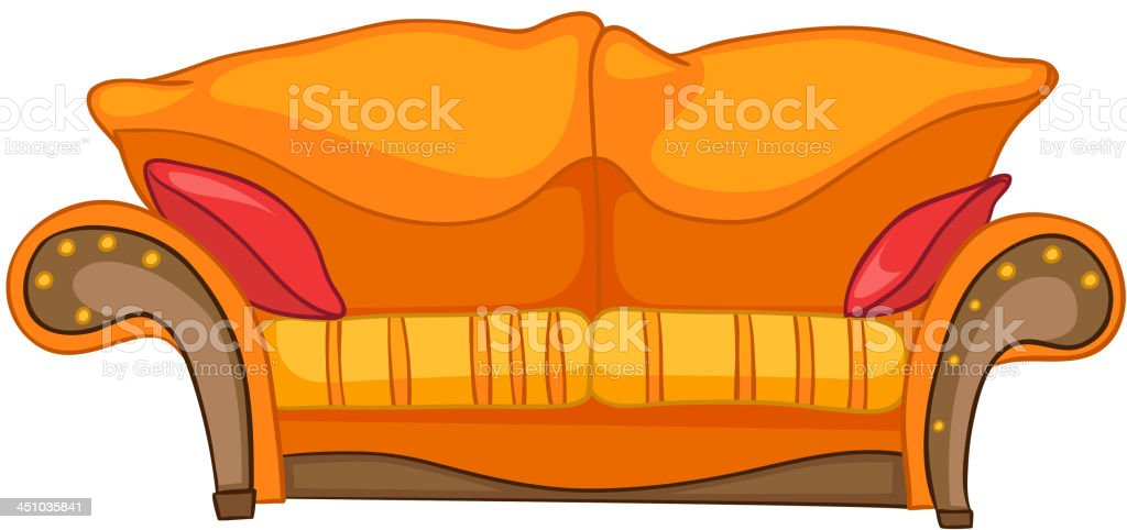 Cartoon Home Furniture Sofa royalty-free stock vector art
