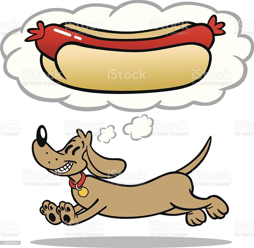 Cartoon Hot Dog royalty-free stock vector art