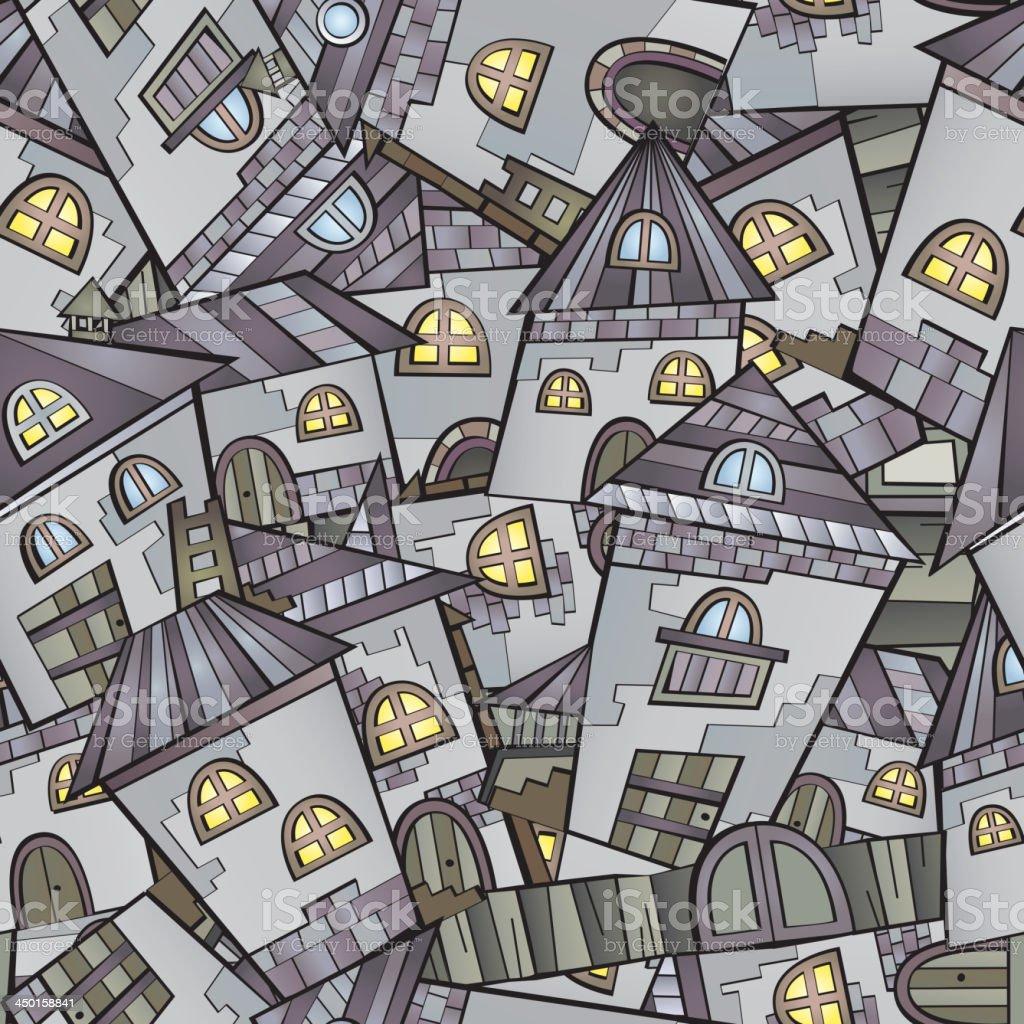 Cartoon houses royalty-free stock vector art