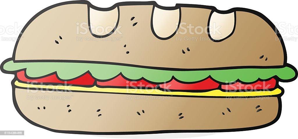 Französische küche comic  Comic Große Sandwich Vektor Illustration 515438466 | iStock