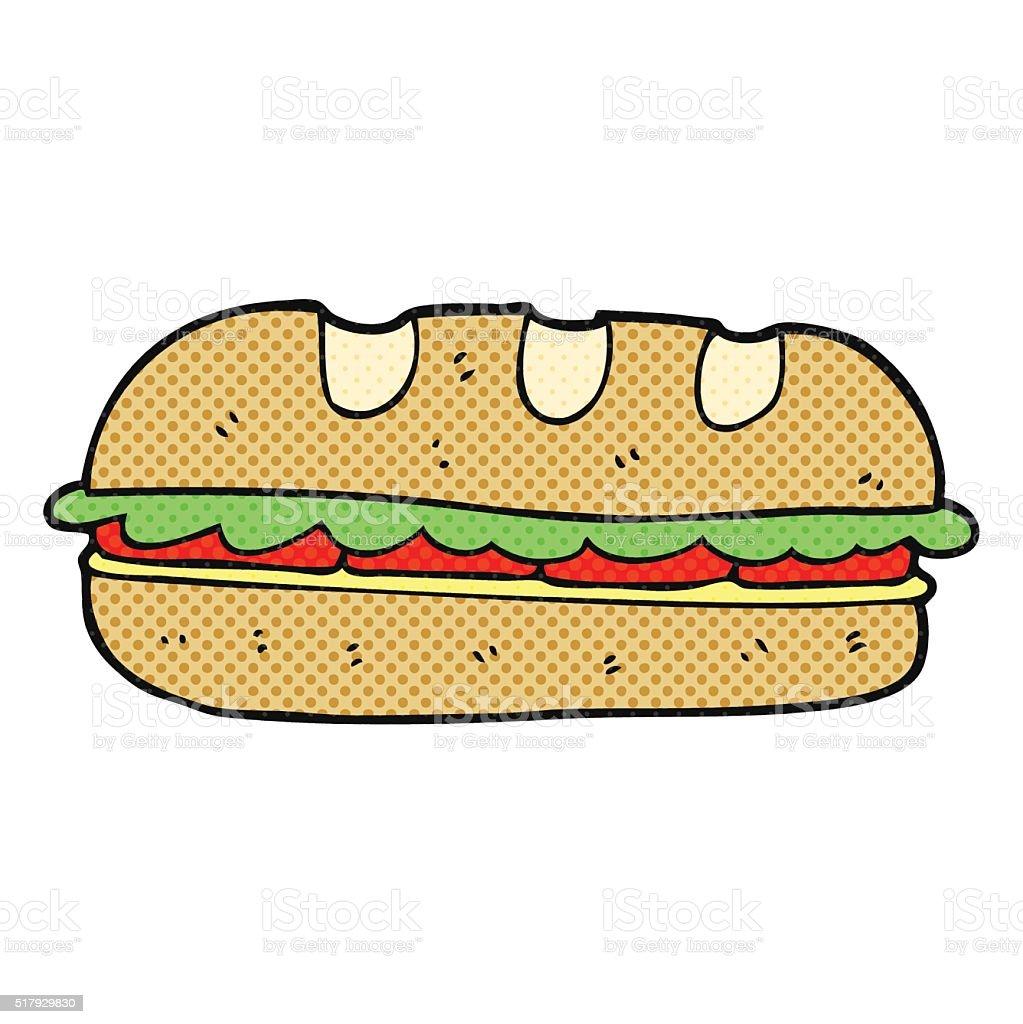 Französische küche comic  Comic Große Sandwich Vektor Illustration 517929830 | iStock