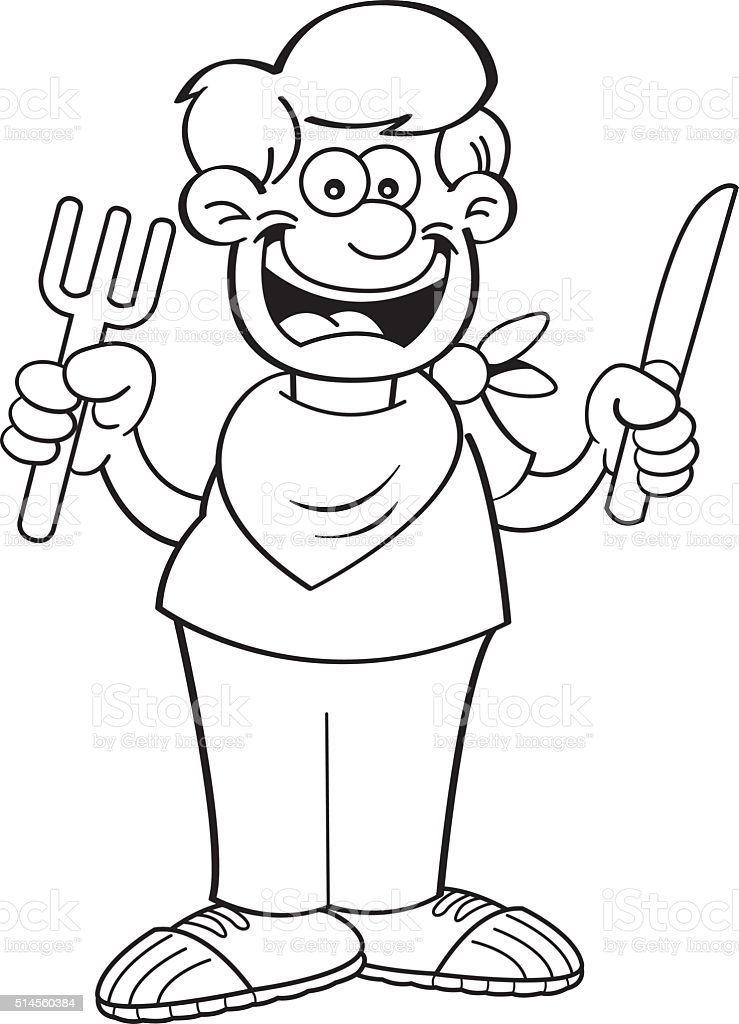 93 Hungry Boy Coloring Page