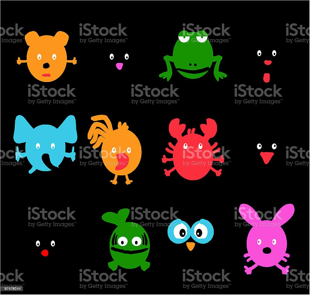 cartoon icons - animals royalty-free stock vector art