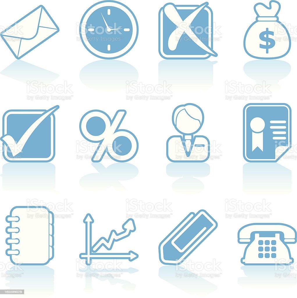 cartoon icons - business royalty-free stock vector art
