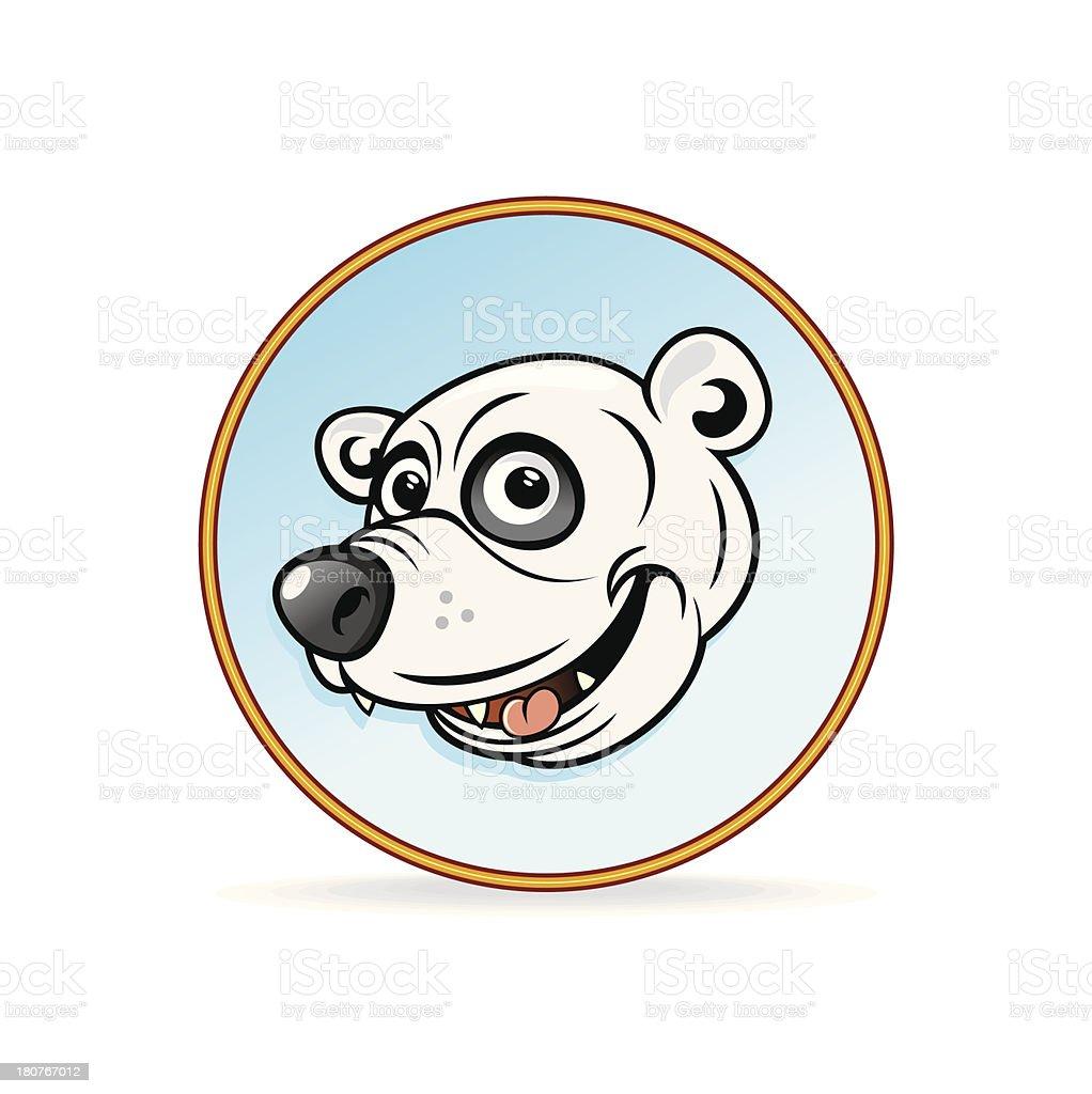 Cartoon Illustration of a Polar Bear Head. royalty-free stock vector art