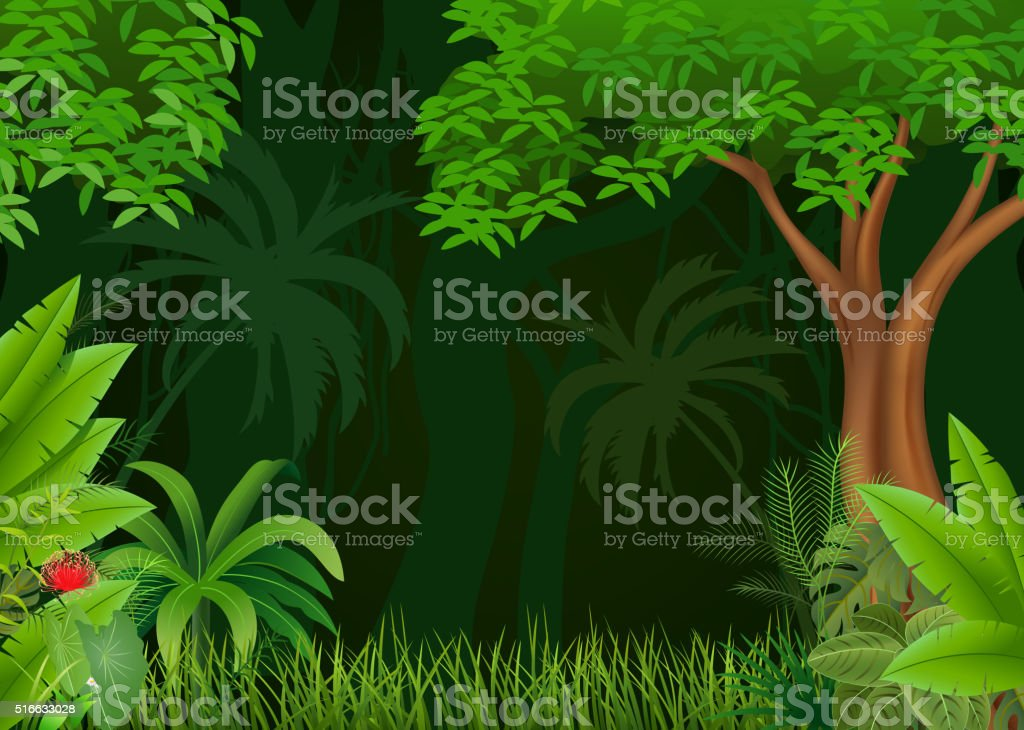 Cartoon illustration of beautiful natural background vector art illustration