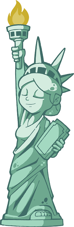Statue Of Liberty Clip Art, Vector Images & Illustrations ...
