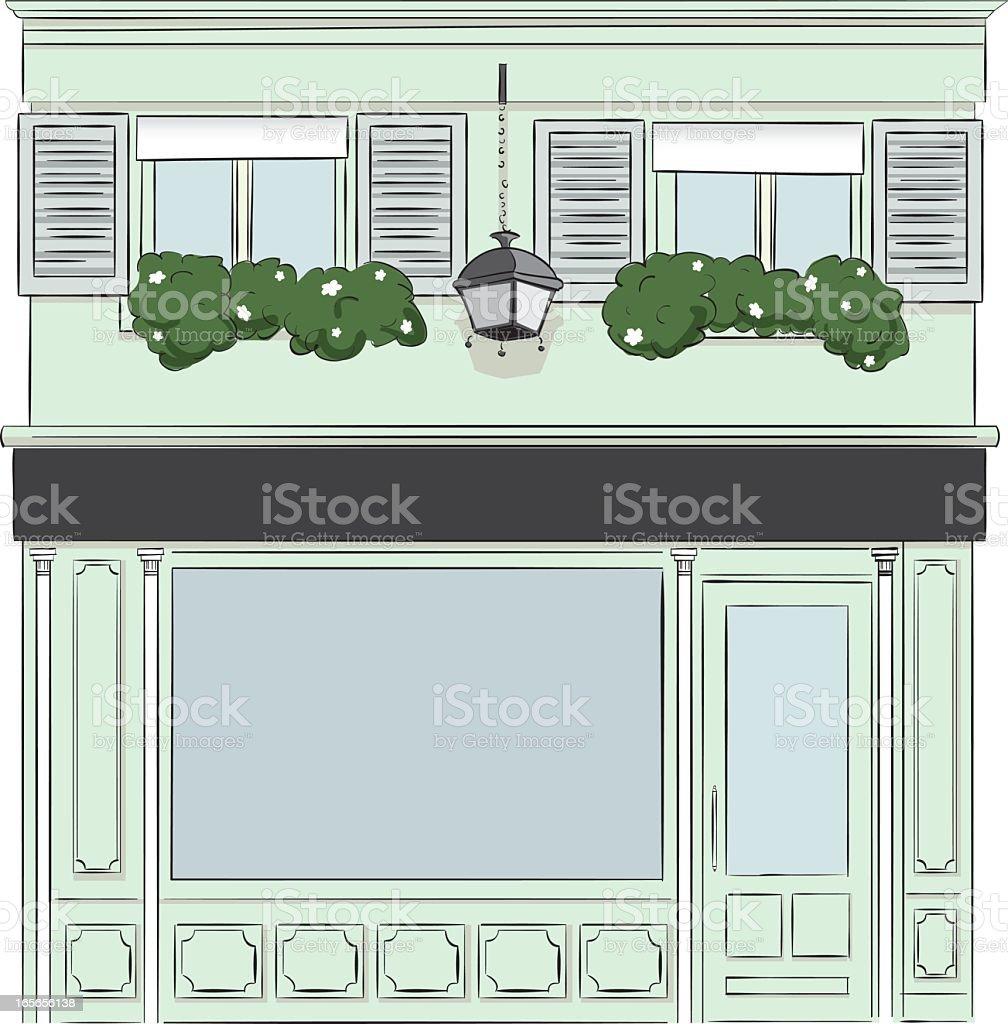 Cartoon illustration of vintage shop  vector art illustration