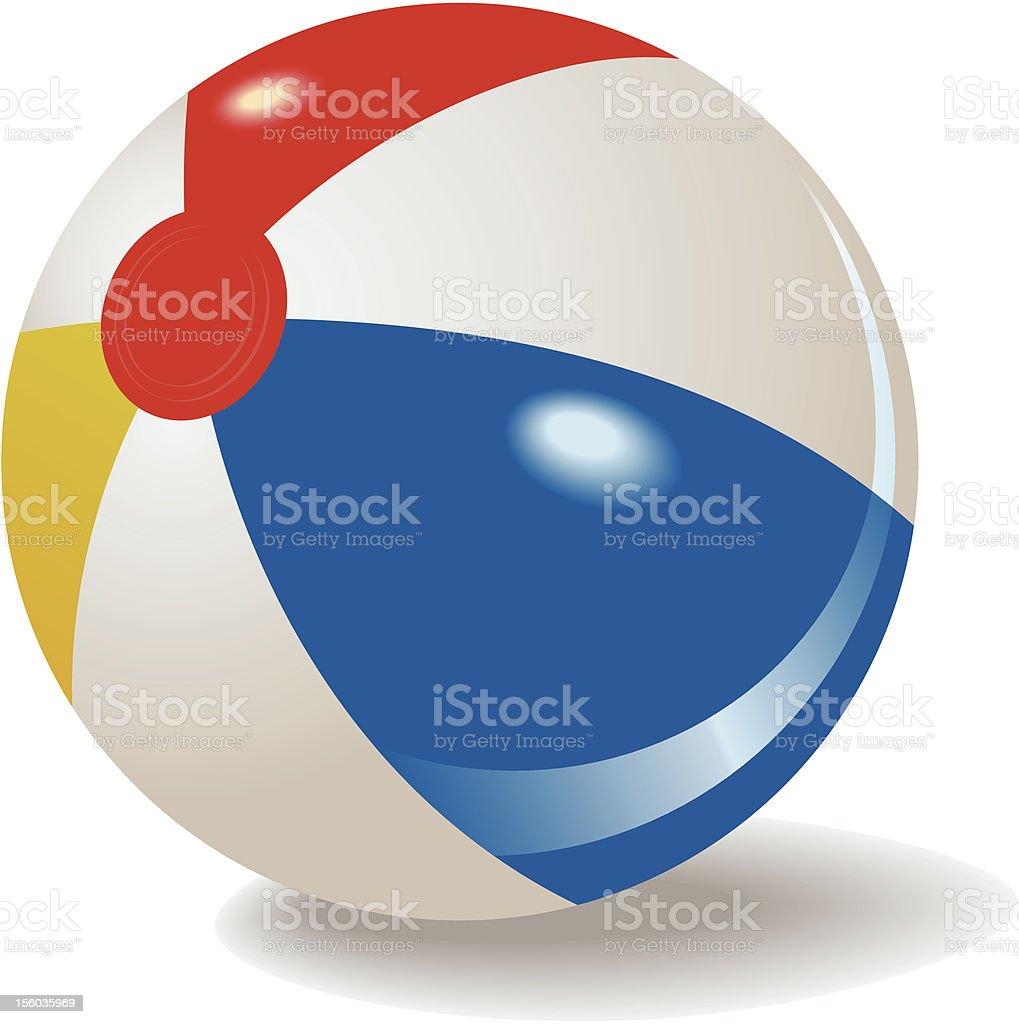 A cartoon image of a beach ball vector art illustration