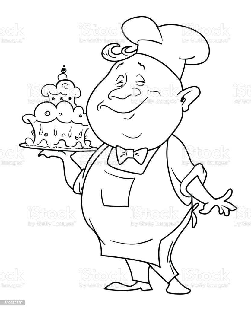 cartoon image of chef stock vector art 810652352 istock