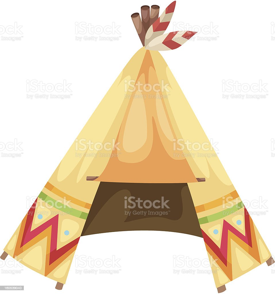 cartoon indians tepee royalty-free stock vector art