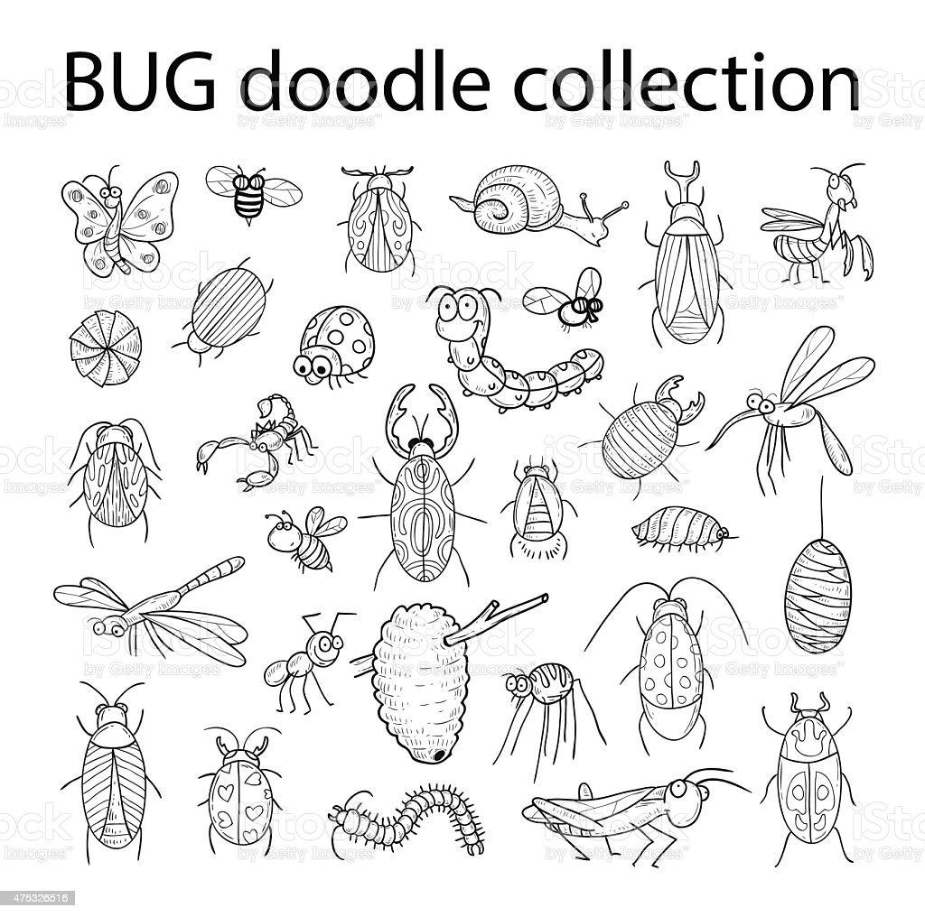 cartoon insect bug icon, vector illustration. vector art illustration