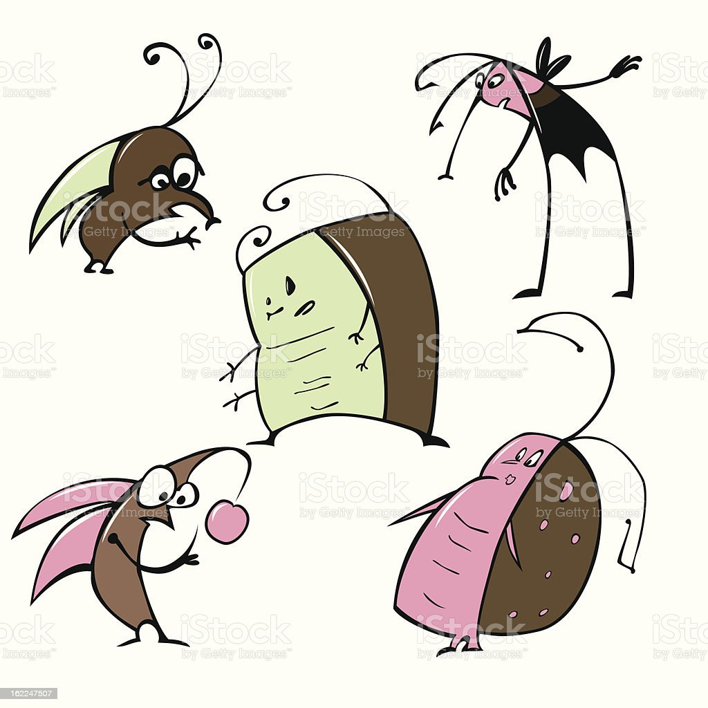 Cartoon insects royalty-free stock vector art