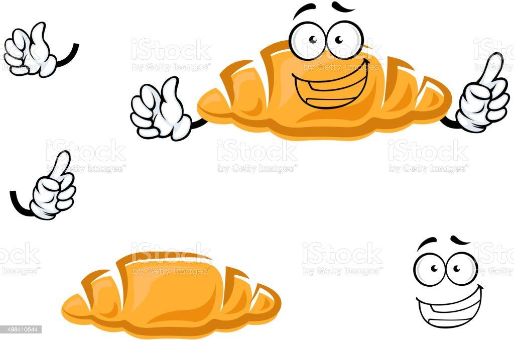 Französische küche comic  Comic Isoliert Französische Croissants Zeichen Vektor Illustration ...