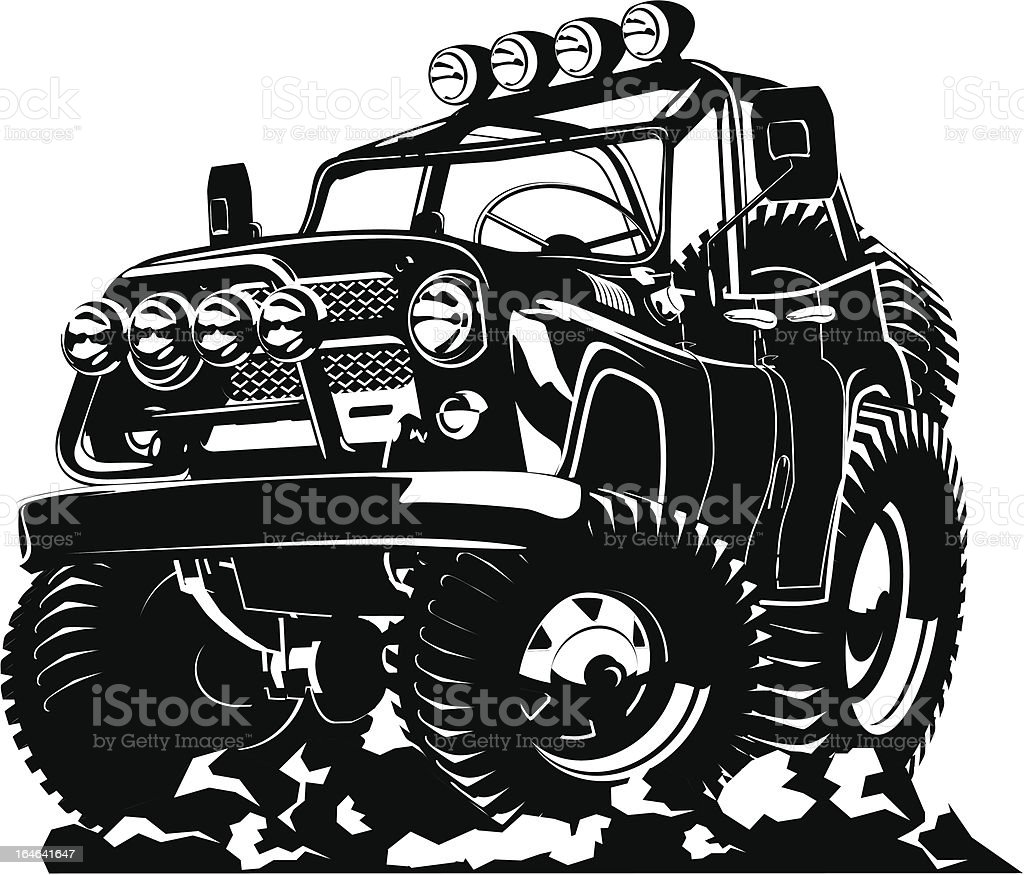 Cartoon jeep royalty-free stock vector art
