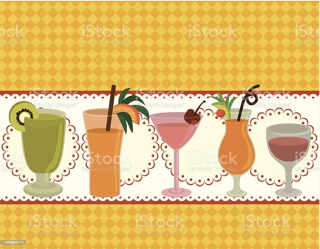 cartoon Juice party card vector art illustration