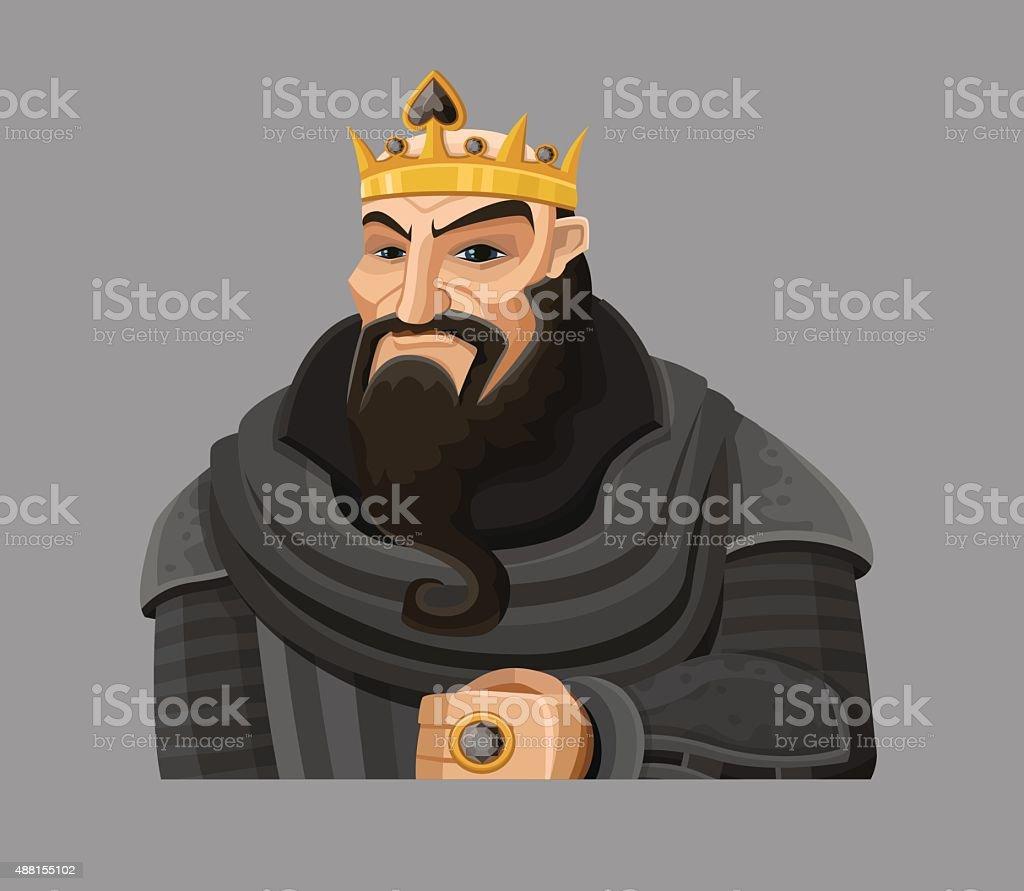 Мультяшный большой кроватью (king Size) в черный векторная иллюстрация