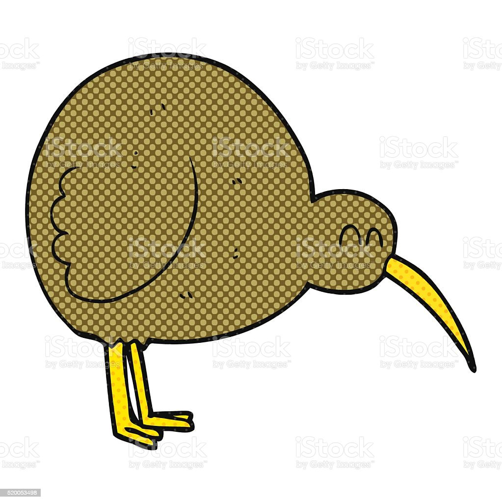 cartoon kiwi bird vector art illustration