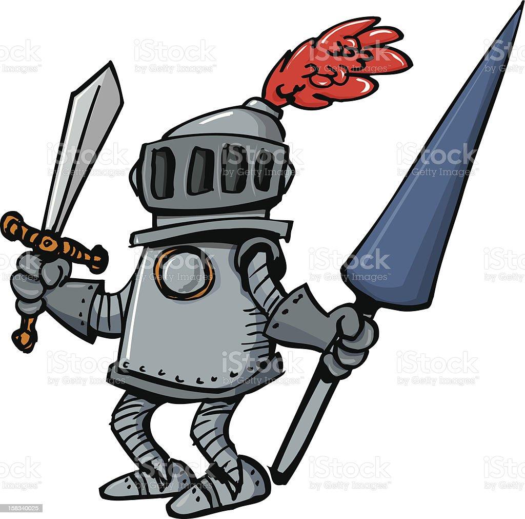 Cartoon knight royalty-free stock vector art
