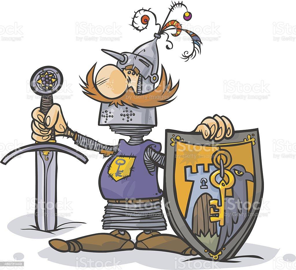 Cartoon Knight. royalty-free stock vector art