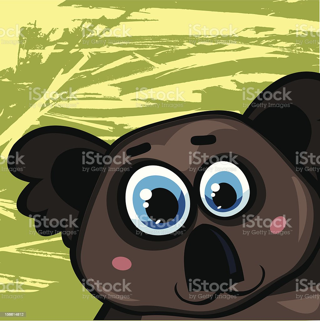 Cartoon koala royalty-free stock vector art