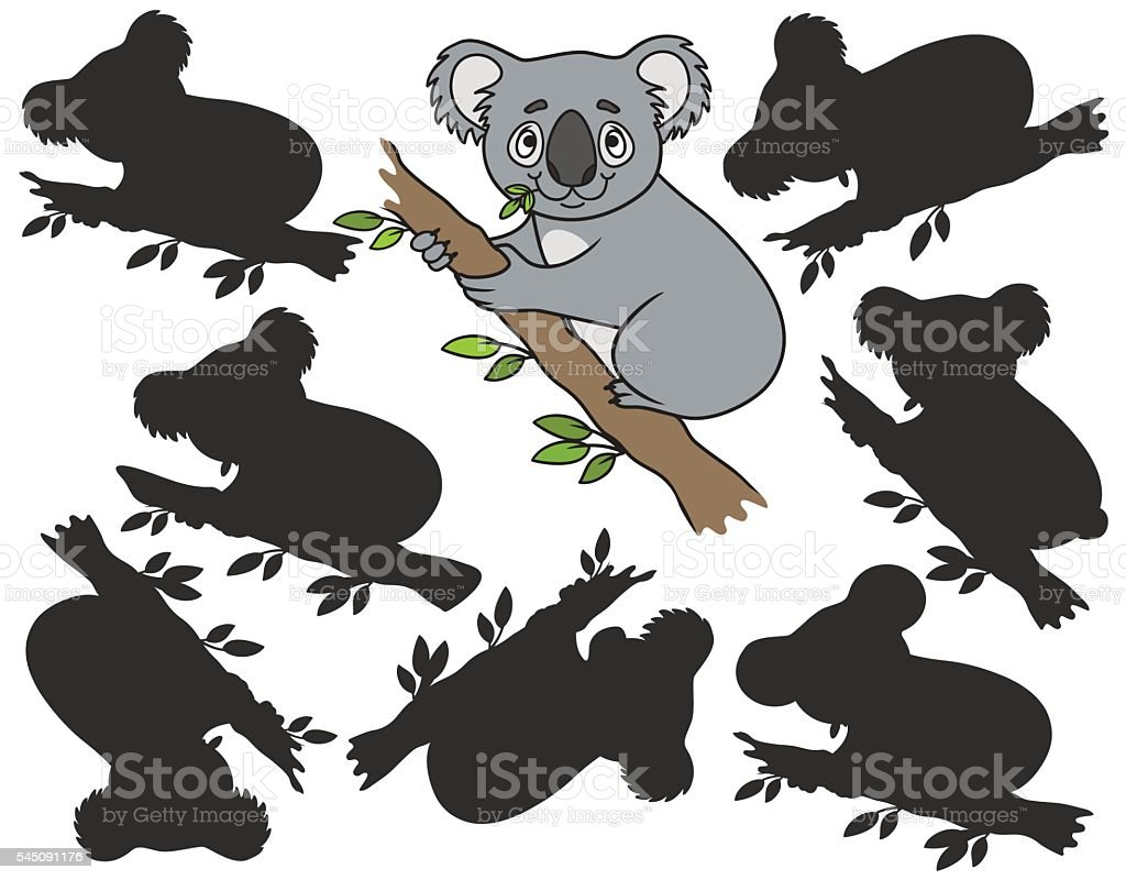 Cartoon koala vector art illustration