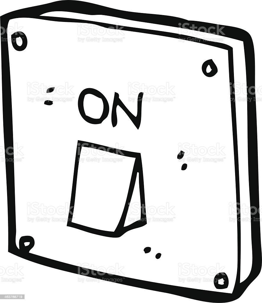 Lichtschalter clipart  Comic Lichtschalter Vektor Illustration 463788719 | iStock