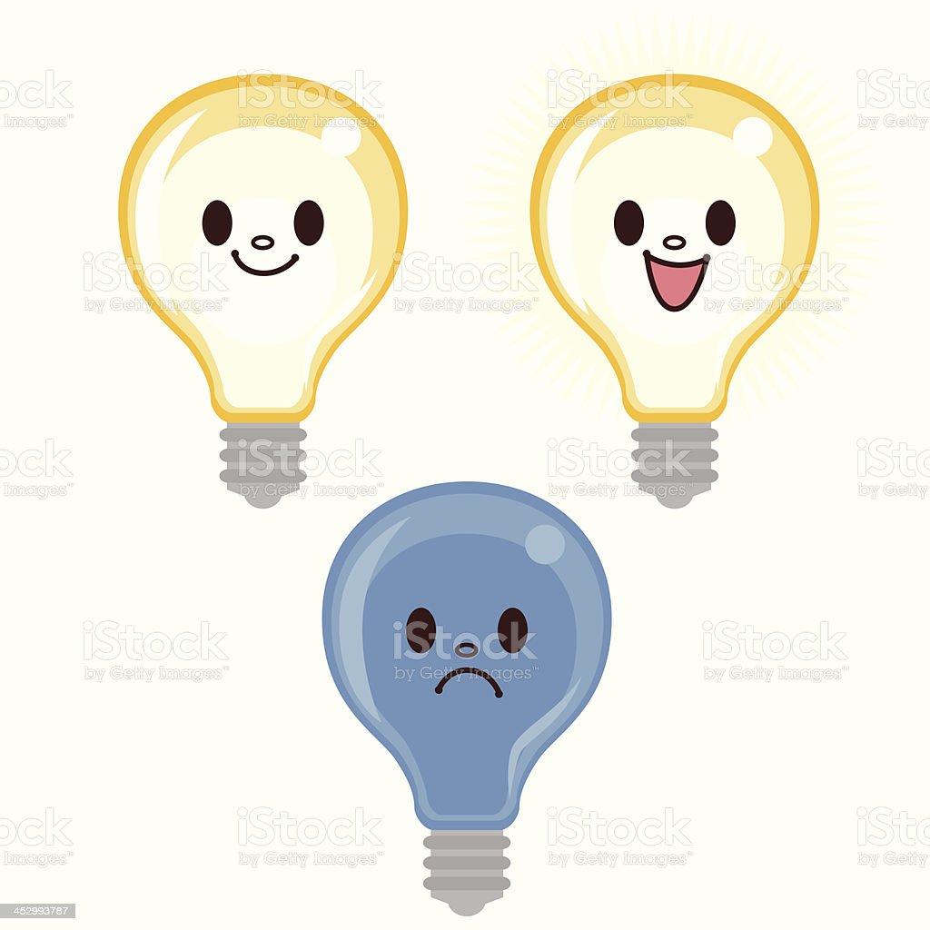 Cartoon Lightbulb royalty-free stock vector art