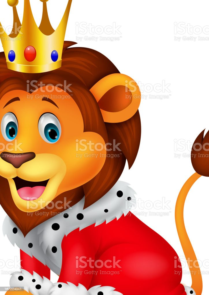 cartoon lion in king stock vector art 167224041 istock